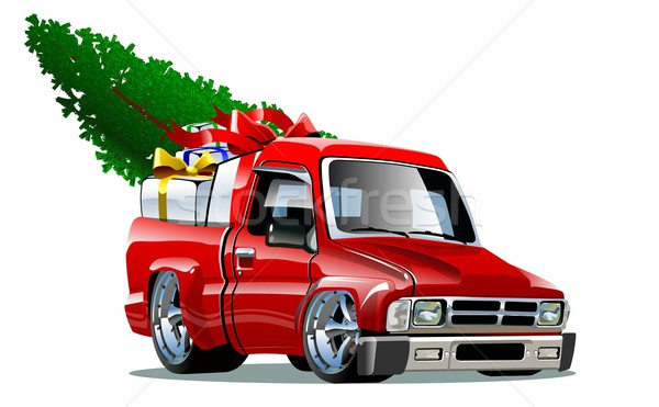 Cartoon Christmas Pickup Stock photo © mechanik