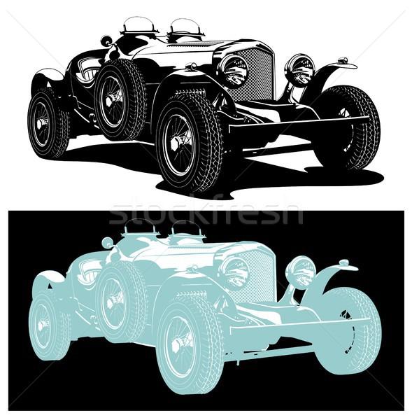 Vector vintage car Stock photo © mechanik