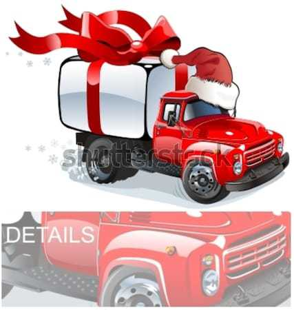 Vector Christmas delivery / cargo truck Stock photo © mechanik