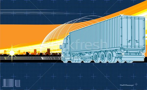 Stock photo: Vector logistics theme background