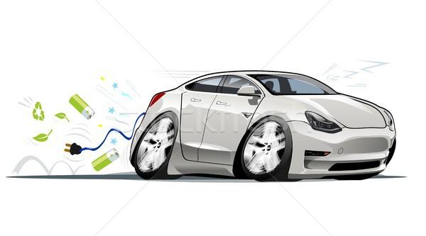 Cartoon elektrische auto vector eps10 groepen lagen Stockfoto © mechanik