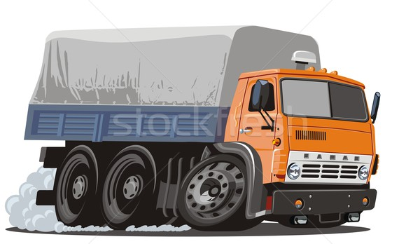 Vector cartoon cargo truck Stock photo © mechanik