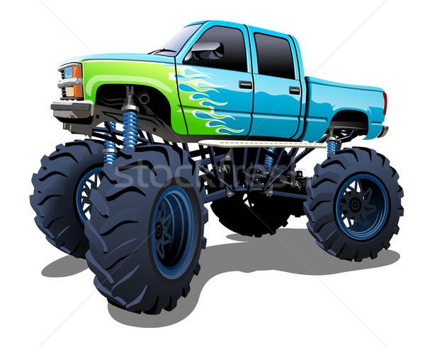 Cartoon Monster Truck Stock photo © mechanik