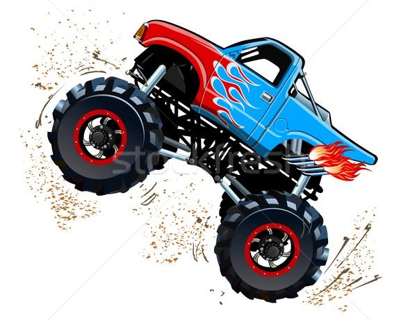 desenho animado monstro caminhão eps10 grupos camadas