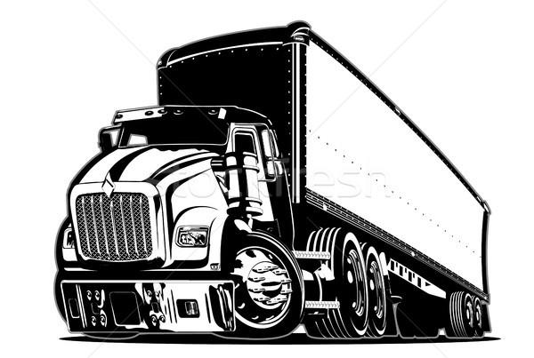 Cartoon semi truck Stock photo © mechanik