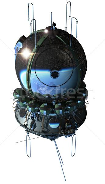 Eerste ruimteschip ruimte schip geïsoleerd witte Stockfoto © mechanik