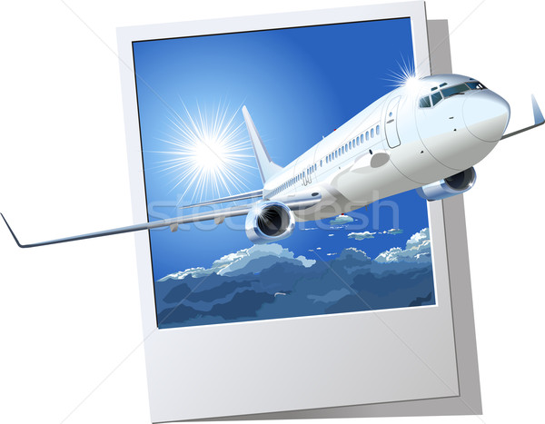 commercial airplane Stock photo © mechanik