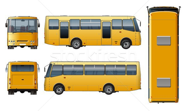 Vector urban passenger mini-bus mock-up Stock photo © mechanik