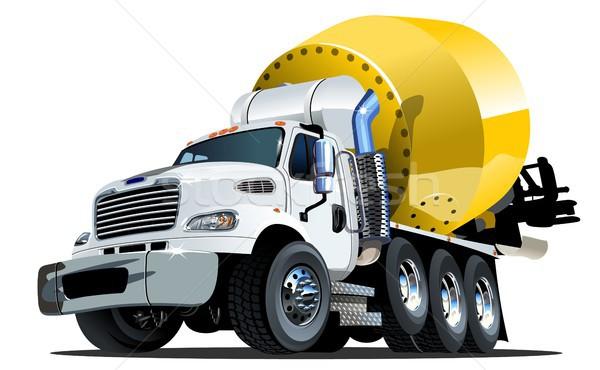 Karikatür mikser kamyon bir tıklayın seçenek Stok fotoğraf © mechanik