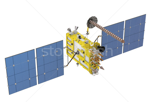 Foto stock: Moderna · GPS · satélite · aislado · blanco · navegación