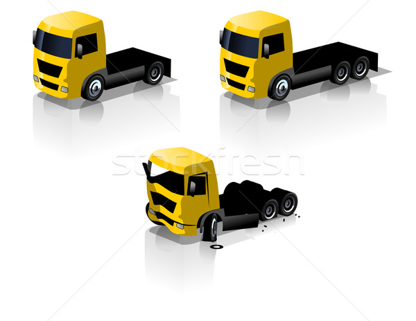 Stock photo: Vector truck icons set
