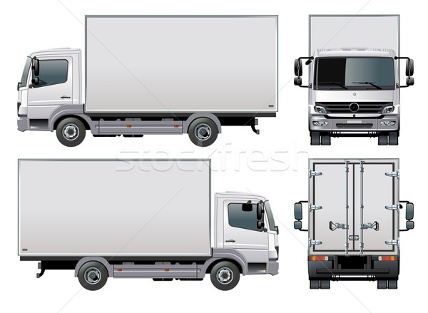 Vector delivery / cargo truck vector illustration ...