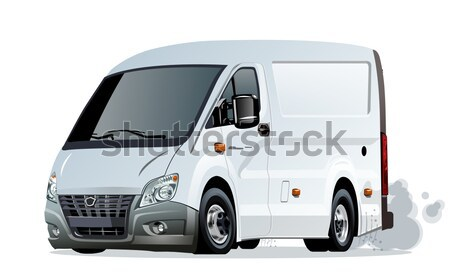 Vector cartoon delivery pickup Stock photo © mechanik