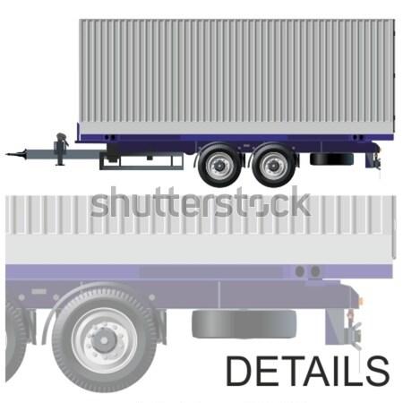 Photo stock: Vecteur · eps8 · industrie · trafic · contenant · pneu