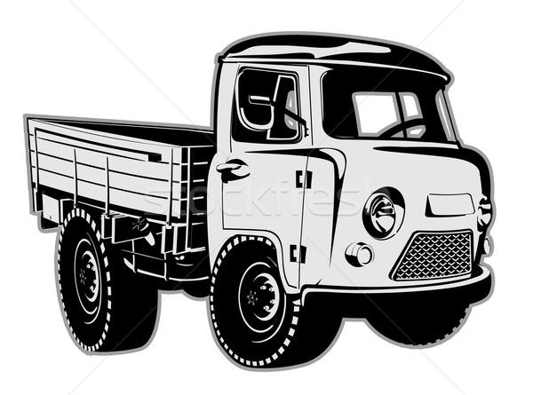 Cartoon delivery cargo pickup Stock photo © mechanik