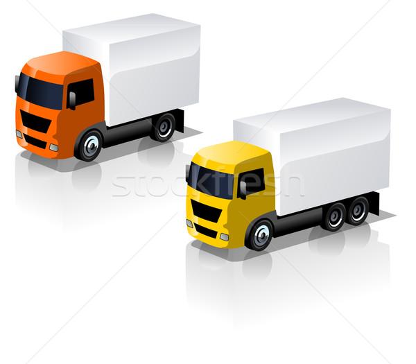 Zdjęcia stock: Wektora · ciężarówka · działalności · polu · internetowych
