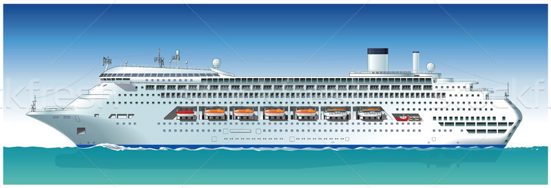 Vector hi-detailed cruise ship Stock photo © mechanik