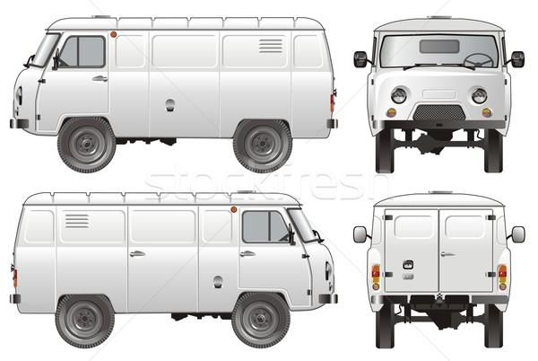 Vecteur livraison fret camion eps8 voiture Photo stock © mechanik
