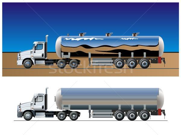 Vector tanker truck template Stock photo © mechanik