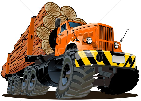 Vector cartoon logging truck Stock photo © mechanik