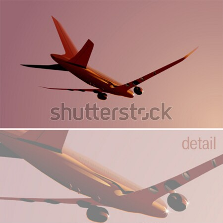 Boeing-787 Dreamliner at sunrise Stock photo © mechanik