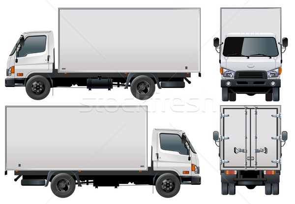Vector delivery / cargo truck Stock photo © mechanik