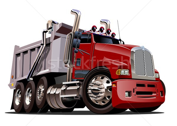 Vector Cartoon Dump Truck Stock photo © mechanik