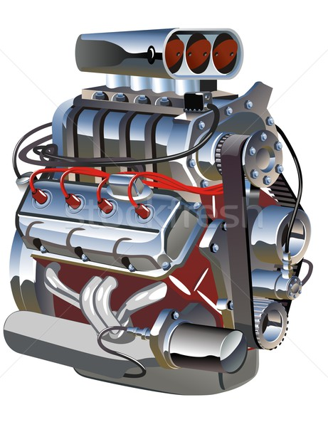 Vector cartoon turbo engine Stock photo © mechanik