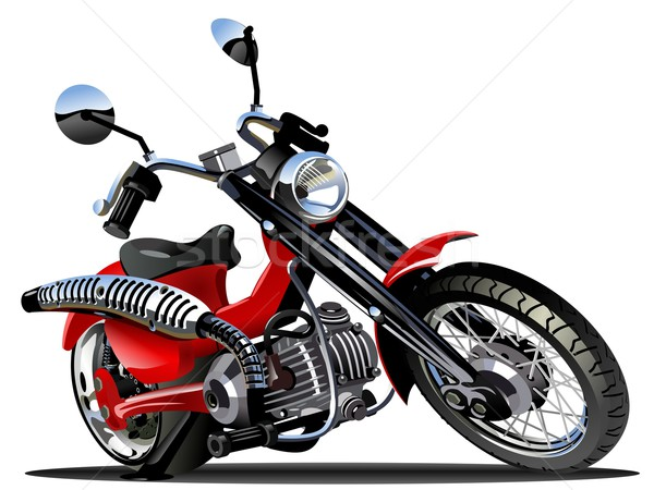 Vector cartoon motorfiets motor eps10 groepen Stockfoto © mechanik