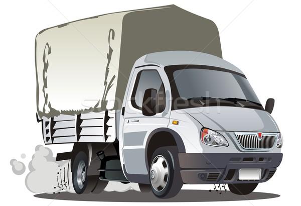 Vector cartoon cargo truck Stock photo © mechanik