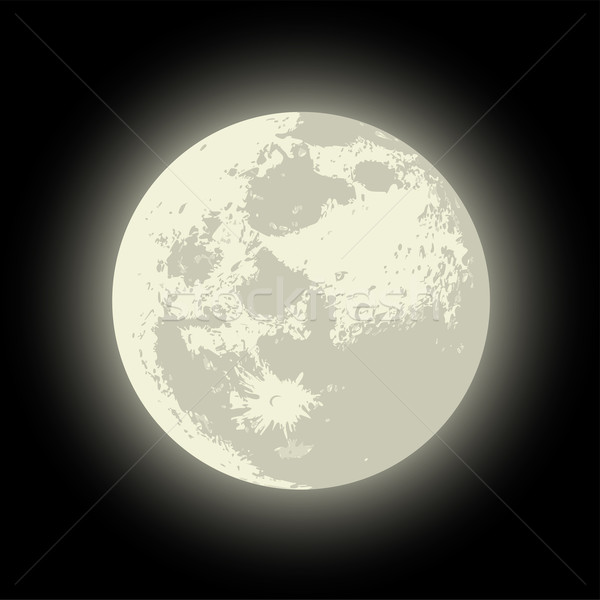Vector Full Moon Stock photo © mechanik