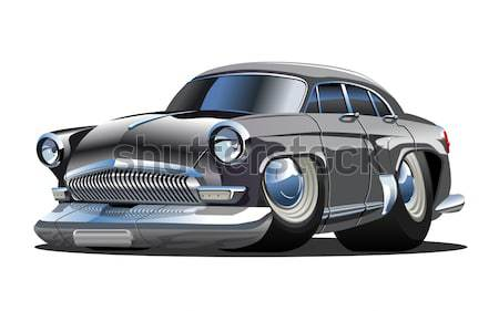 Stock photo: Vector retro sport car