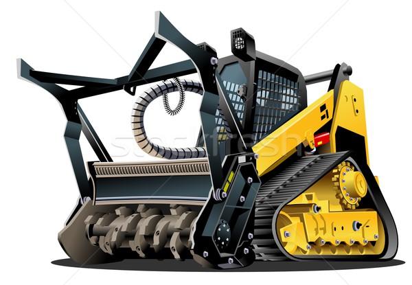 Vector Cartoon Land Clearing Mulcher Stock photo © mechanik