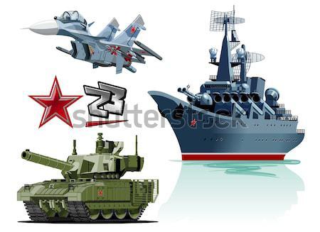 Rajz csatahajó vektor eps10 csoportok rétegek Stock fotó © mechanik