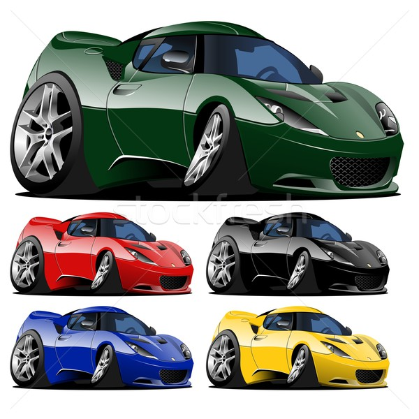 vector cartoon car one click repaint Stock photo © mechanik