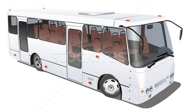 Vector city bus isolated Stock photo © mechanik