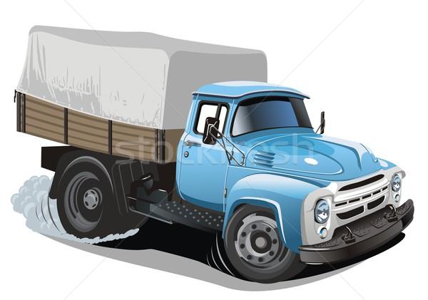 Photo stock: Vecteur · cartoon · livraison · fret · camion · eps8