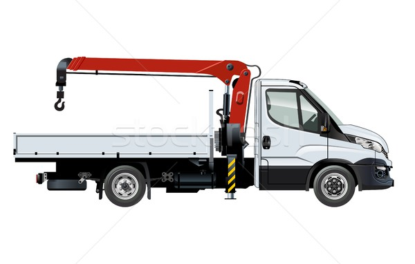 Stock photo: Vector crane template isolated on white