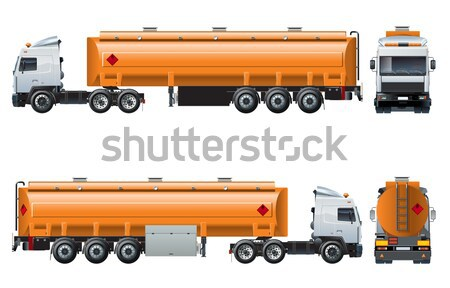 Vector realistic tanker truck template isolated on white Stock photo © mechanik