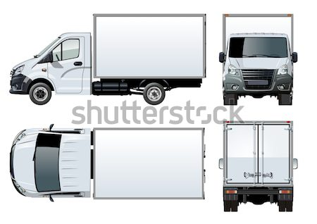 Vecteur livraison fret camion eps10 format Photo stock © mechanik