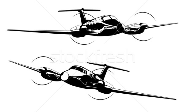 Vector Civil utility aircraft Stock photo © mechanik