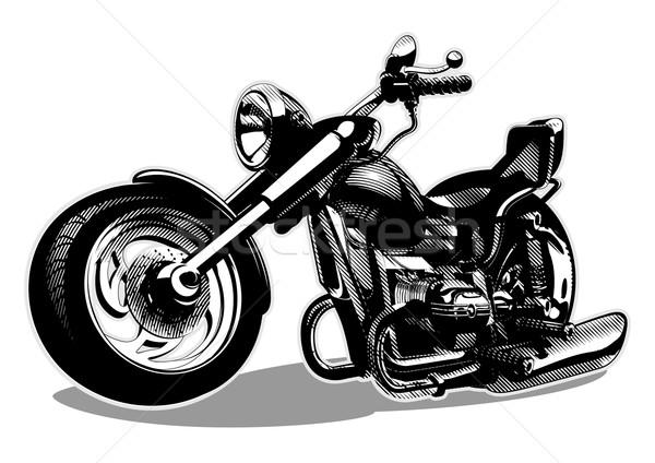 Foto stock: Vector · Cartoon · moto · eps8 · formato · capas