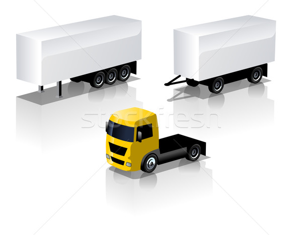 Vector truck icons set Stock photo © mechanik