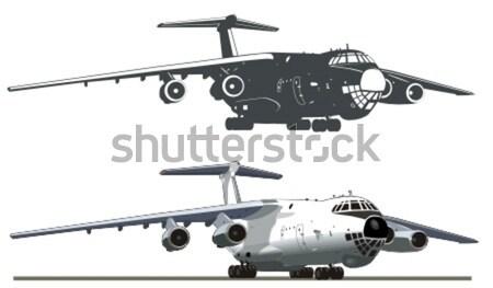 Cartoon Military Airplane Stock photo © mechanik