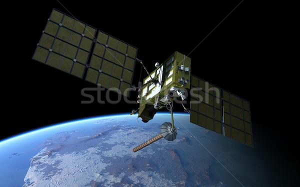 Modern navigation satellite Stock photo © mechanik