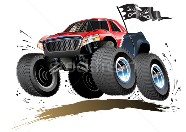 Cartoon Monster Buggy Stock photo © mechanik