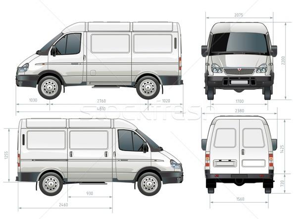 Vector delivery / cargo van Stock photo © mechanik
