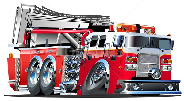 Cartoon Fire Truck Stock photo © mechanik