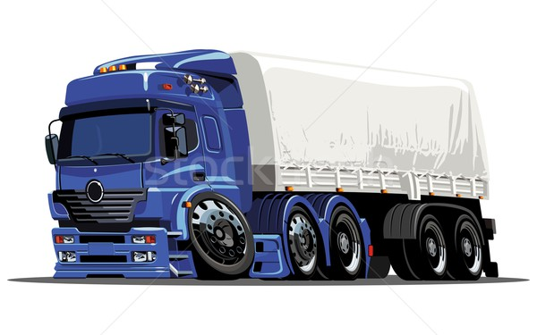 Vector cartoon cargo semi-truck Stock photo © mechanik