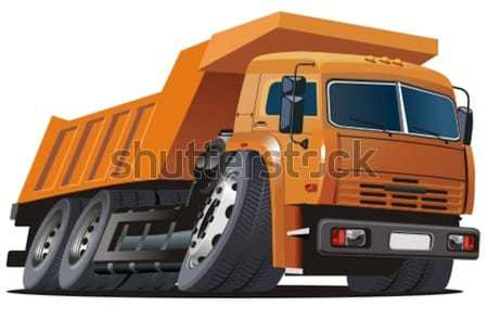 Vector cartoon dump truck Stock photo © mechanik